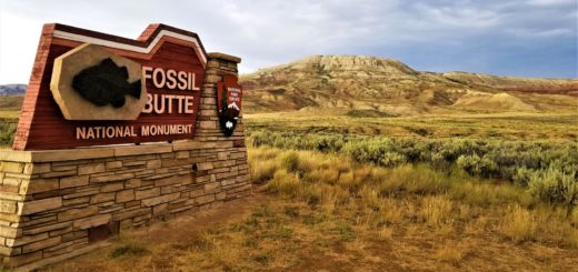Fossil Butte National Monument Sign