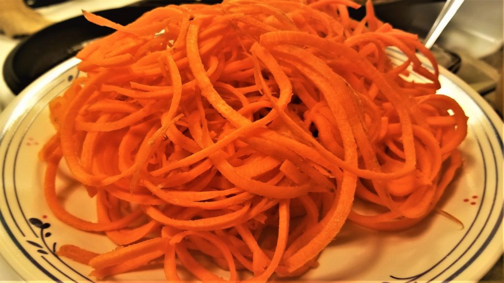 spiralized carrots