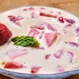 strawberry-mint soup