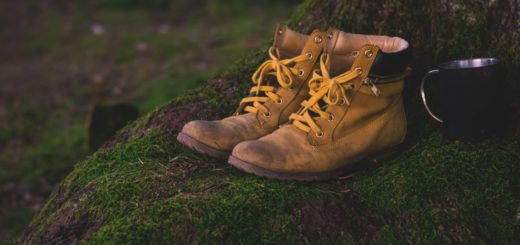 boots in the woods