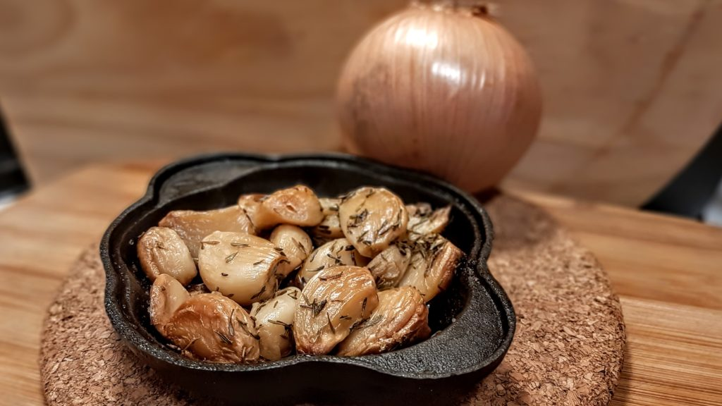roasted garlic and onion