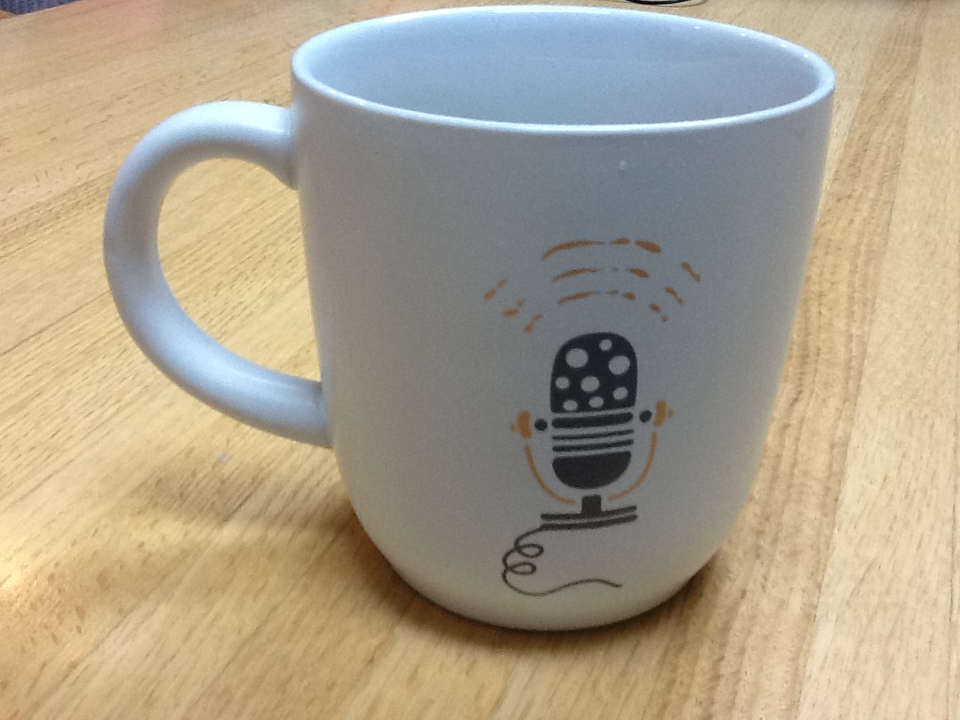 mug with microphone image